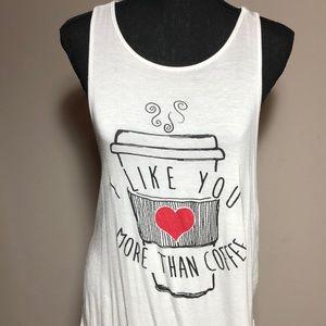 Cream Coffee Tank Top